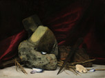 Still life with strange rock  Oil on canvas 2019
