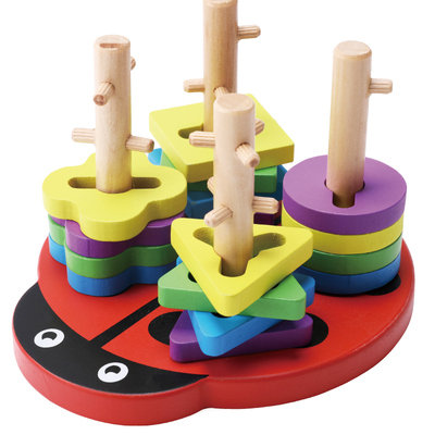 Lady Bird Wood Stack Puzzle