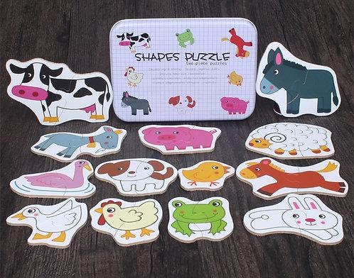 Farm Animal Puzzle Shapes