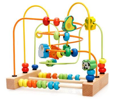Wooden Bead Maze Animals