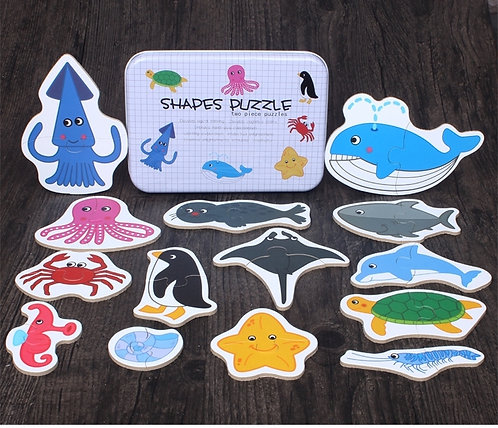 Sea Creature Puzzle Shapes