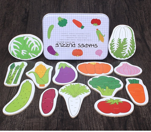 Vegetable Puzzle Shapes
