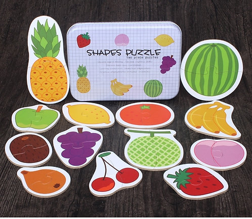 Fruit Puzzle Shapes