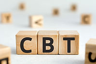 CBT - acronym from wooden blocks with le