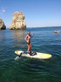paddle boarding from Nauti Girl July 201