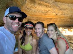 Californians at play, Benagil cave tour