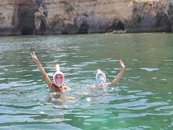 snorkelling is fun on Nauti Girl!