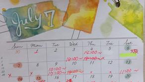 7-8月の予定表