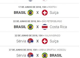 Copa do Mundo na Rússia 2018