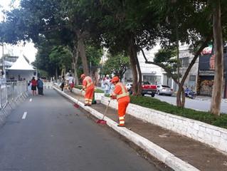 Prefeitura coleta 18 toneladas de resíduos no centro da cidade durante aniversário de São Paulo