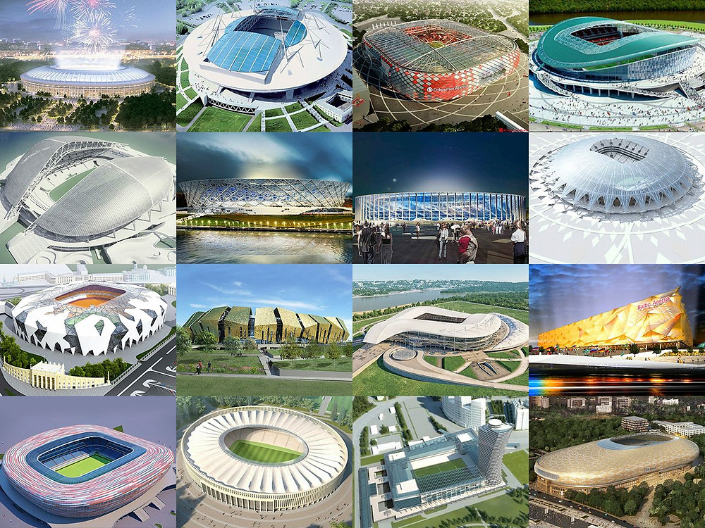 Estádios copa da Rússia