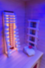 Infrared cabin illuminated in ultra viol