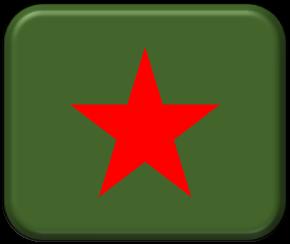 1-300 Soviet tank turret red stars