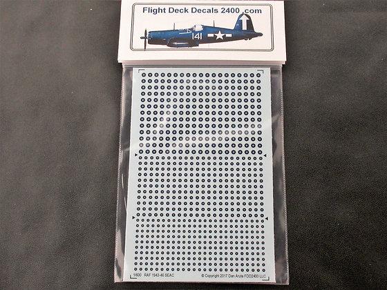 1-600 decals WWII RAF SEAC 1943-1946