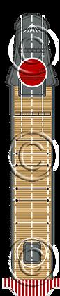 CVL Ryujo Hinomaru deck 1-1800 scale
