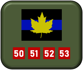 Canadian WWII 2nd Armoured Brigade tank markings 1-285