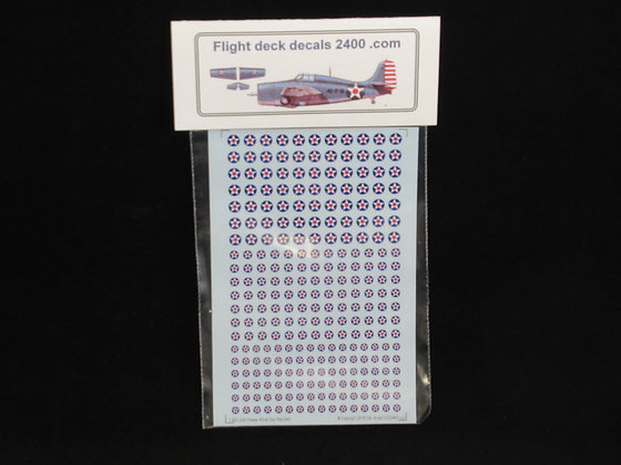 1-300 Decals USA Pre-War Star & Red Ball Roundel