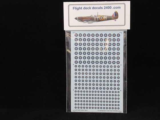 1-300 WWII RAF Type C Roundel decals