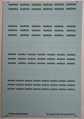 1-300 MARINA black & white mix