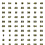 Thumbnail: 1-300 BORT Numbers (Large) Yellow with Black Outline