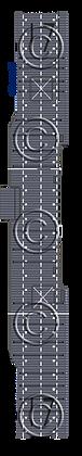 CV-17 Bunker Hill MS blue 1-1800 scale