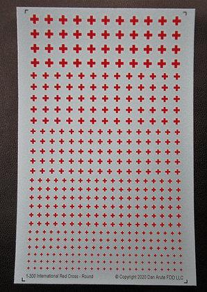 1-300 Red Cross vehicle symbols - round