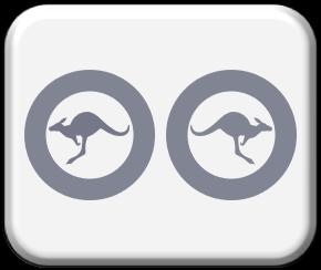 1-300 Australia Modern low visibility mid grey roundels
