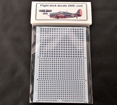 1-600 Decals USA Pre-War Star & Red Ball Roundel