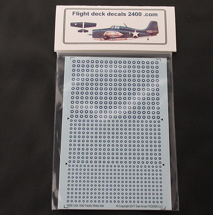 1-600 Decals USA Pacific War White Star 1942-1943 Roundel