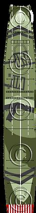 CV Shinano camo V1 deck 1-1800 scale