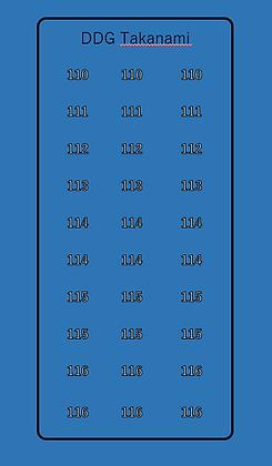Takanemi DDG hull numbers