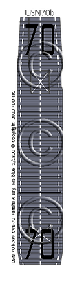 "CVE-70 Fanshaw Bay MS blue  ""Taffy3"" 1-1800 scale"