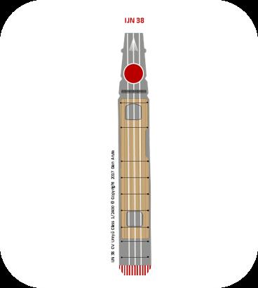 IJN38 CV Unryū class 1945 deck
