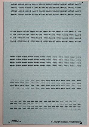 1-600 MARINE Navy 50-50 white & black markings