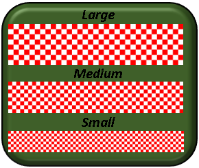 "Checker Board ""Large"" Red & White 1-300"