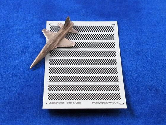 """Checker Board """"Small"""" Black & Clear 1-300"""
