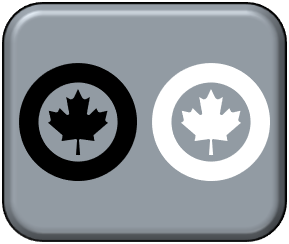 1-300 Canadian modern low visibility black & white
