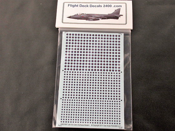 1-600 decals RAF Modern Camo Surfaces Roundels