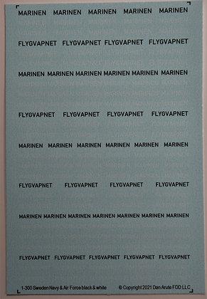 1-300 MARINEN & FLYGVAPNET black & white mix