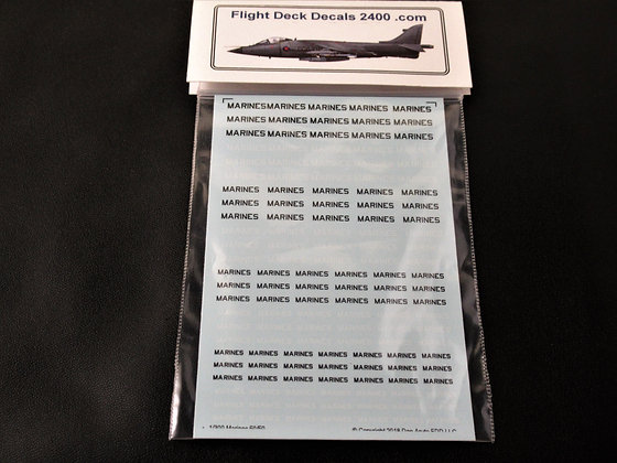 1-300 Decals Marines Lettering 50- 50 black & white