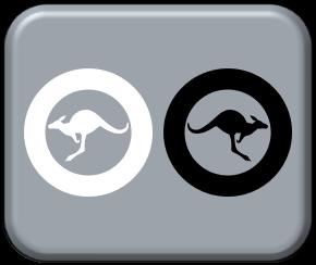 1-600 Australia Modern low visibility black & white roundels