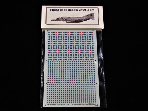 1-600 decals South Rhodesia roundels 1963-70