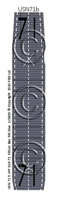 "CVE-71 Kitkun Bay MS blue  ""Taffy3"" 1-1800 scale"