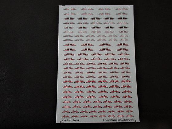 1-300 WWII Shark Teeth Group 1