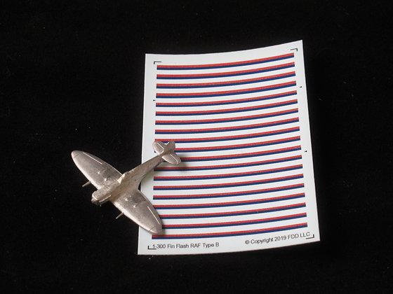 RAF Type C Fin Flash 1-300  decals