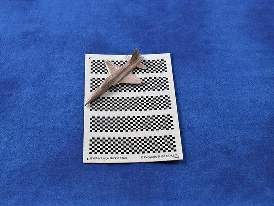 "Checker Board ""Large"" Black & Clear 1-300"