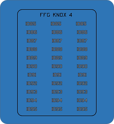 Knox Class FFG Group #4 hull numbers