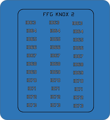 Knox Class FFG Group #2 hull numbers