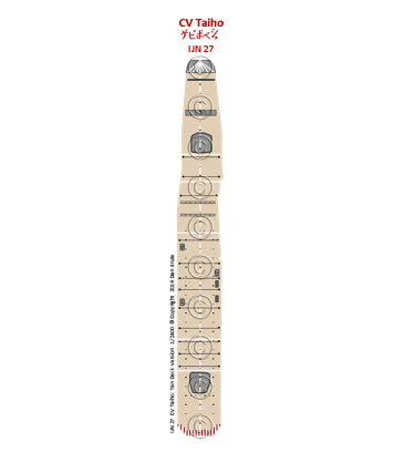 IJN27  CV Taiho: Tan Deck Version