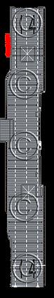 CV-14 Ticonderoga faded MS  1-1800 scale